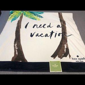 NWT Kate Spade I Need a Vacation Beach Towel